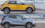 Сравнение 2018 Volkswagen T-Roc vs 2017 Opel Mokka X