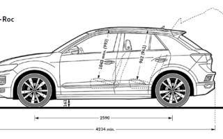 Габаритные размеры Volkswagen T-Roc