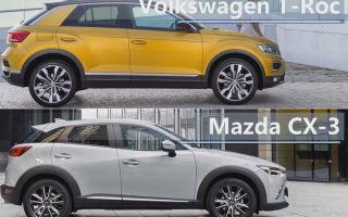 Сравнение 2018 Volkswagen T-Roc vs 2017 Mazda CX-3