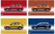 VW T-Roc — основные и дополнительные цвета кузова