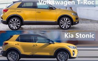 Сравнение 2018 Volkswagen T-Roc VS 2018 Kia Stonic