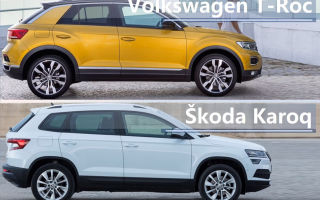Сравнение 2018 Volkswagen T-Roc vs 2018 Skoda Karoq