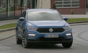 Первые реальные фото Volkswagen T-Roc на улицах Германии