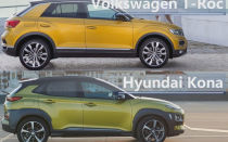 Сравнение 2018 Volkswagen T-Roc vs 2018 Hyundai Kona