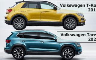 Сравнение Volkswagen T-Roc vs Volkswagen Tarek