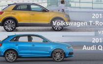 Сравнение 2018 Volkswagen T-Roc vs 2017 Audi Q3
