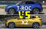 Сравнение Volkswagen T-Roc VS BMW X2