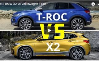 Сравнение Volkswagen T-Roc VS BMW X2