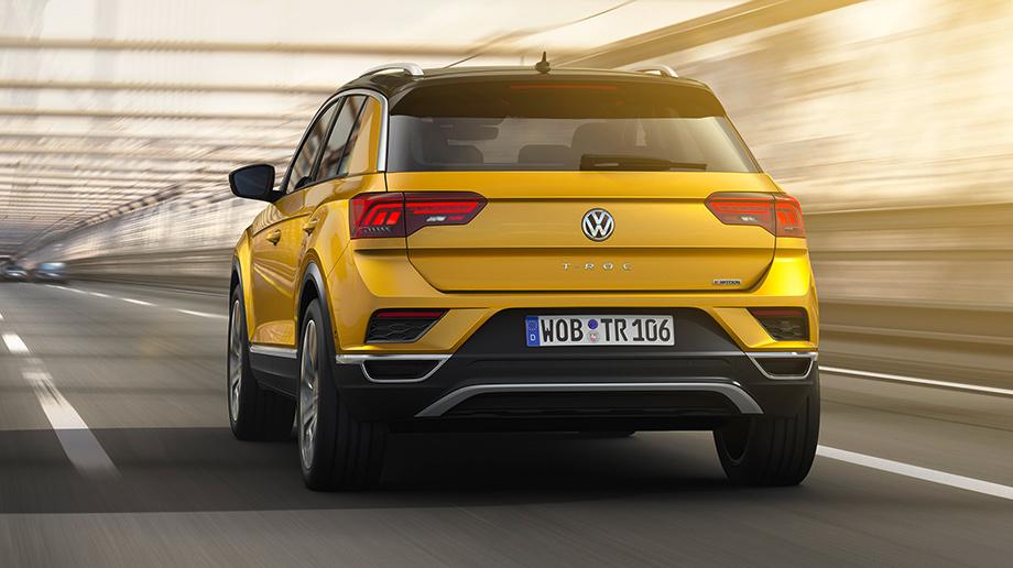 Вид сзади Volkwagen T-Roc