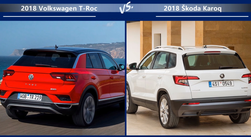 VW T-Roc vs Skoda Karoq Динамика
