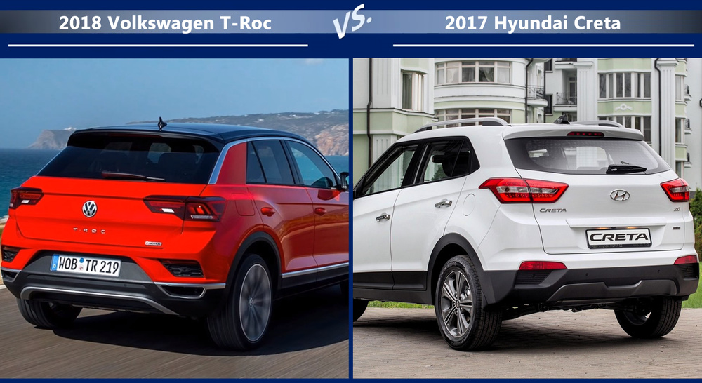 VW T-Roc vs Hyundai Creta Динамика