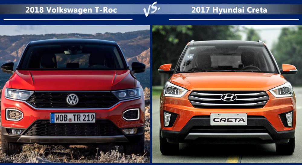 VW T-Roc vs Hyundai Creta Цена