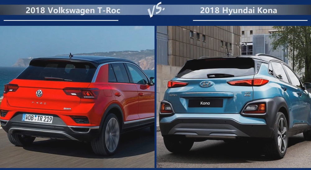 VW T-Roc vs Hyundai Kona Динамика