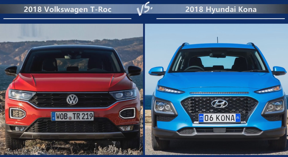 VW T-Roc vs Hyundai Kona Цена