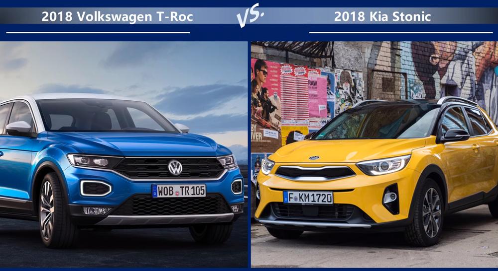 VW-T-Roc vs Kia-Stonic Внешние размеры