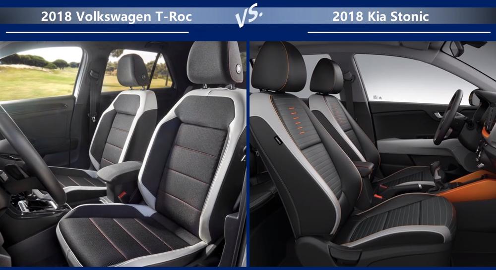 VW-T-Roc vs Kia-Stonic Размеры салона