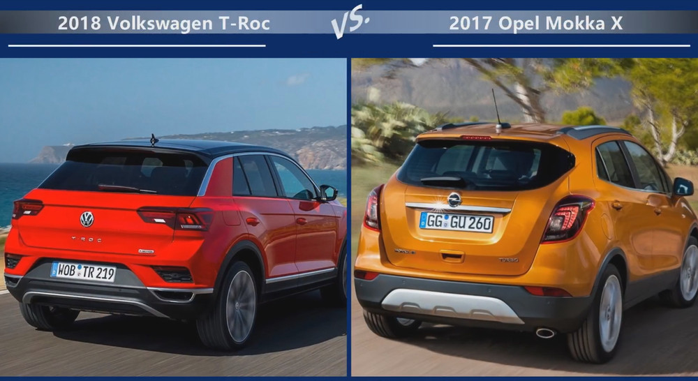 VW T-Roc vs Opel Mokka Динамика
