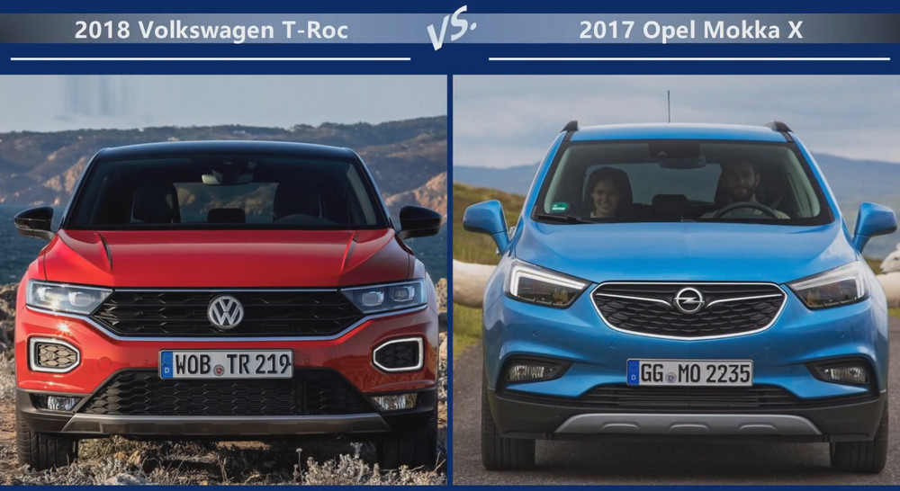 VW T-Roc vs Opel Mokka Цена