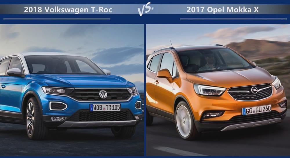 VW T-Roc vs Opel Mokka Внешние размеры