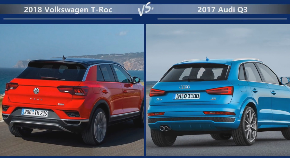 VW T-Roc vs Audi Q3 Динамика