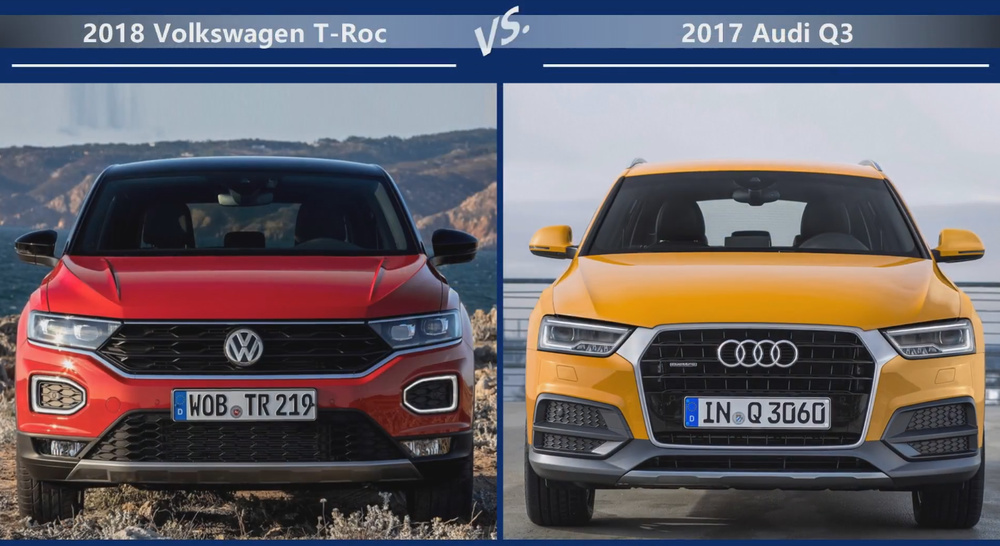 VW T-Roc vs Audi Q3 Цена