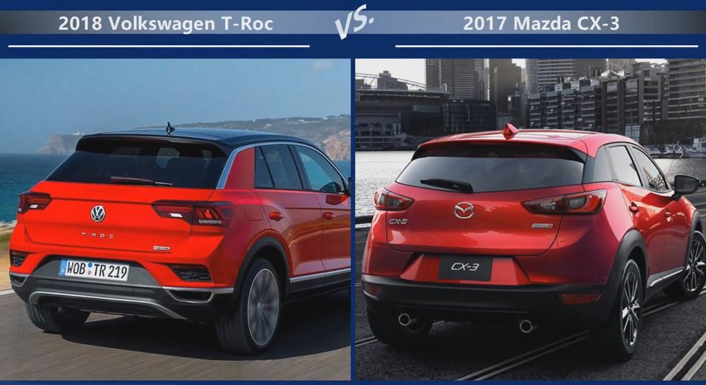VW T-Roc vs Mazda CX-3 Динамика