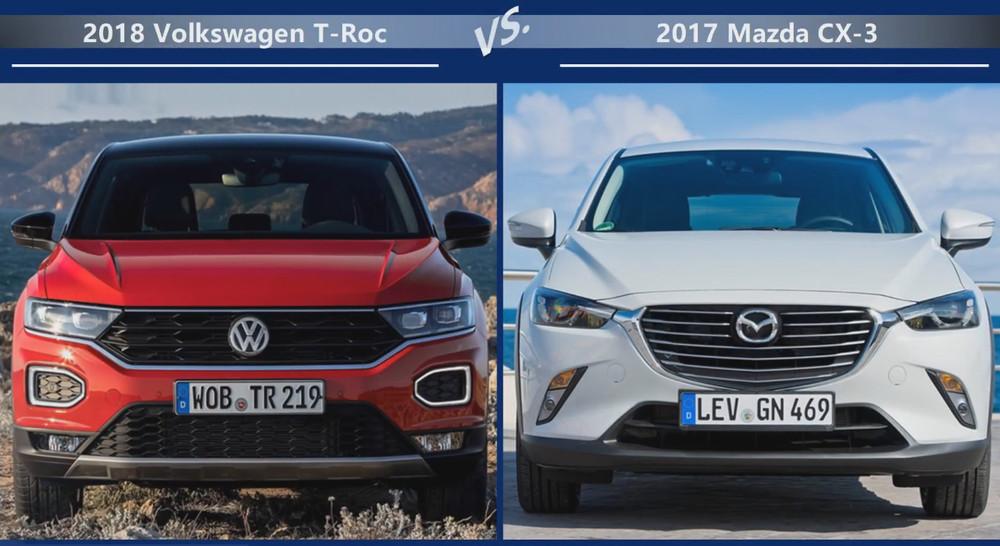 VW T-Roc vs Mazda CX-3 Цена