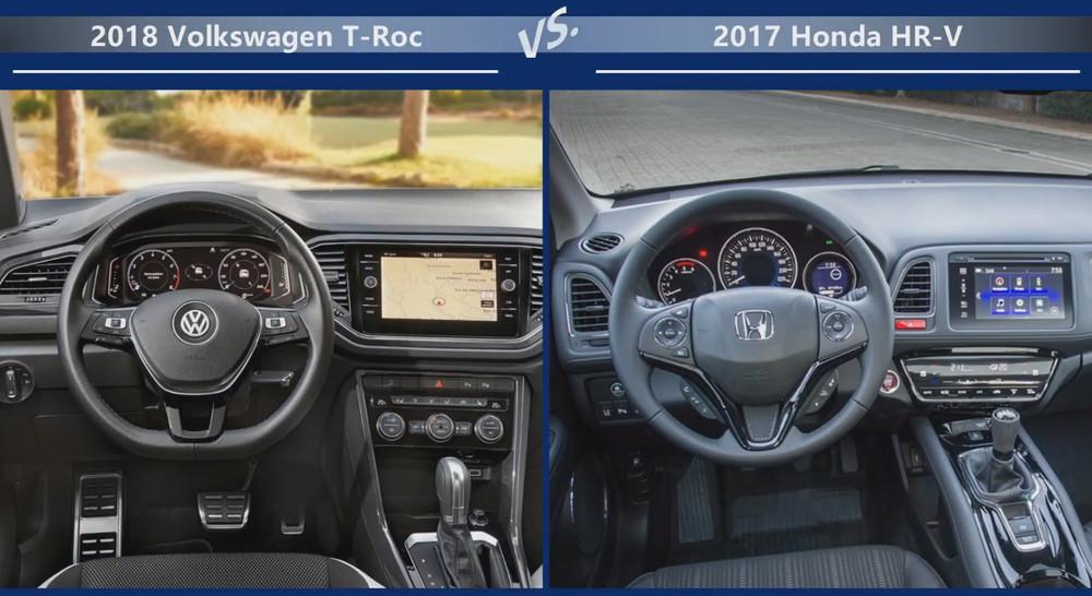 Volkswagen T-Roc vs Honda HR-V Двигатели