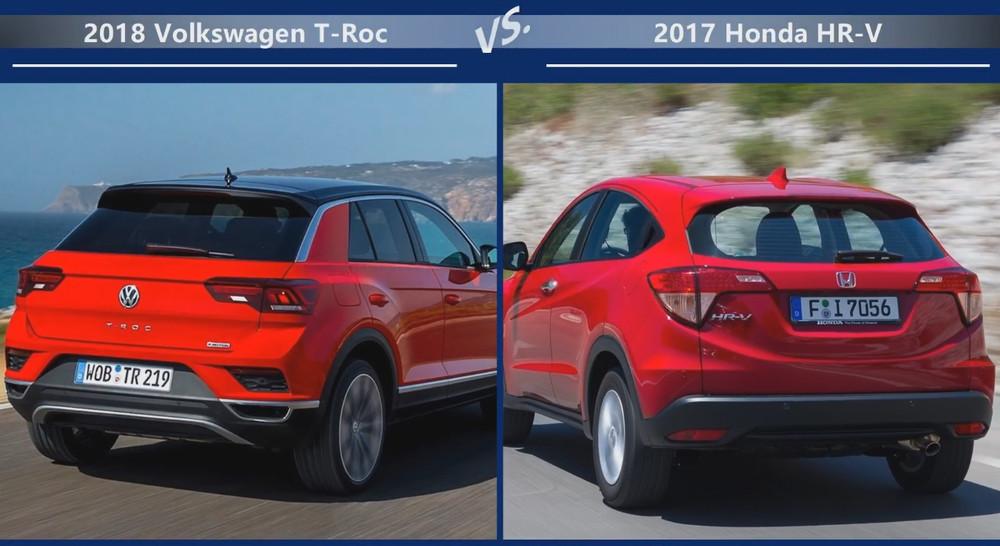 Volkswagen T-Roc vs Honda HR-V Динамика