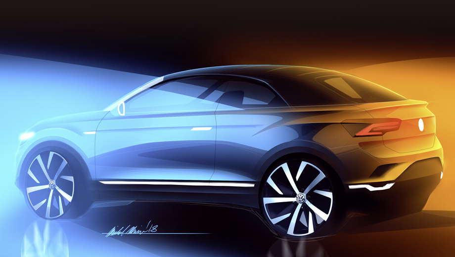 Официальный тизер - Volkswagen T-Roc Cabriolet