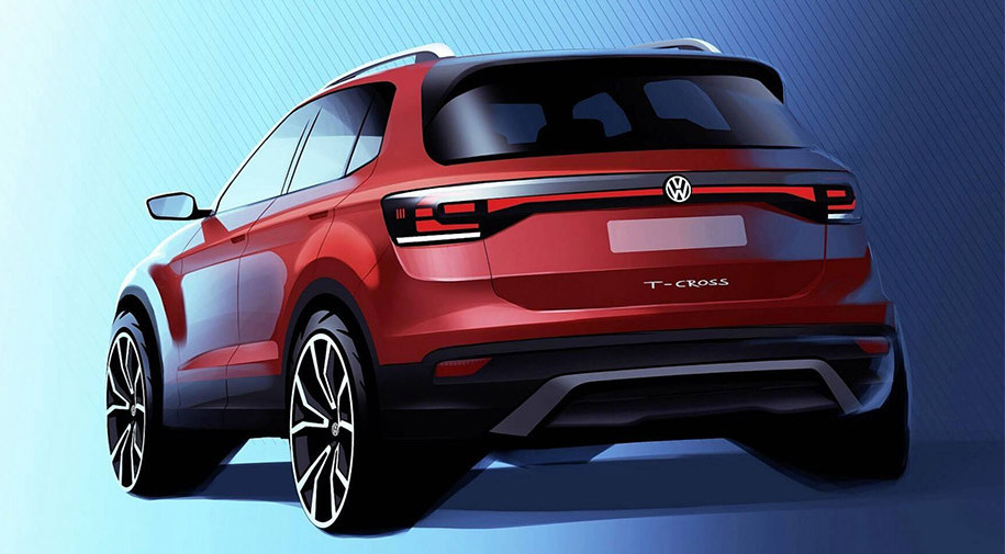 Volkswagen T-Cross Скетч-дизайн