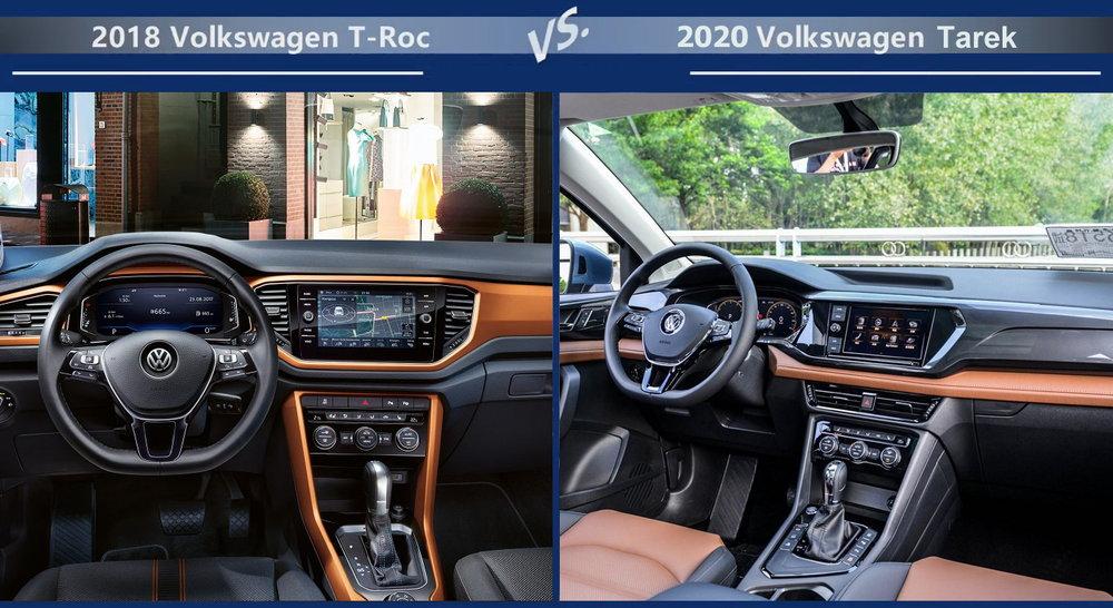 Volkswagen T-Roc vs Volkswagen Tarek Двигатели