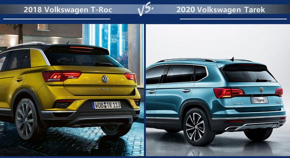 Volkswagen T-Roc vs Volkswagen Tarek Динамика