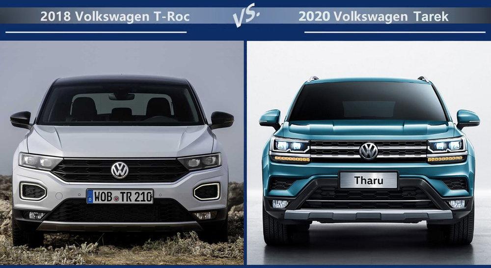 Volkswagen T-Roc vs Volkswagen Tarek Цена